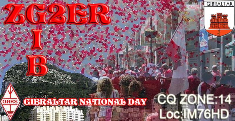 Gibraltar ZG2ER Gibraltar National Day