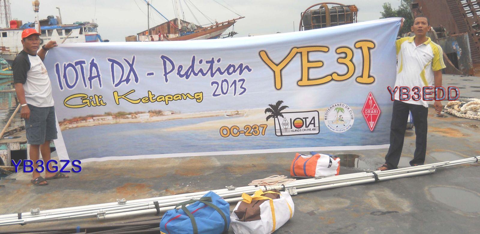 Gili Ketapang Island YE3I DX News 2013