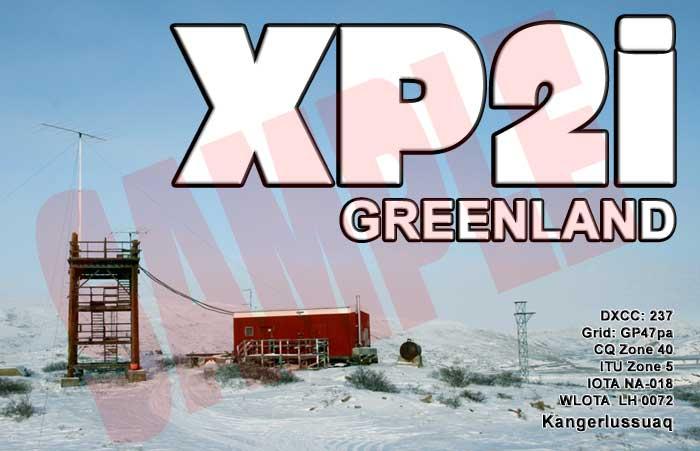 Гренландия XP2I 2013 QSL