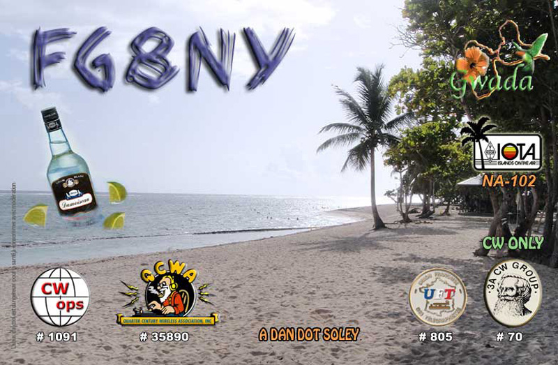 Остров Гваделупа TO0MT FG8NY