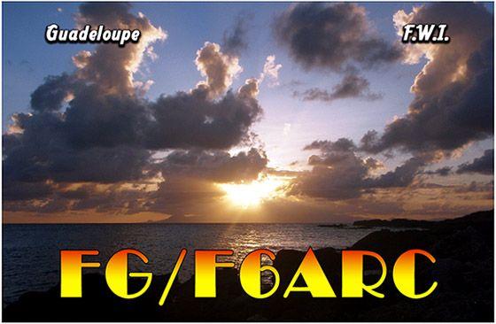 Остров Гваделупа FG/F6ARC DX Новости
