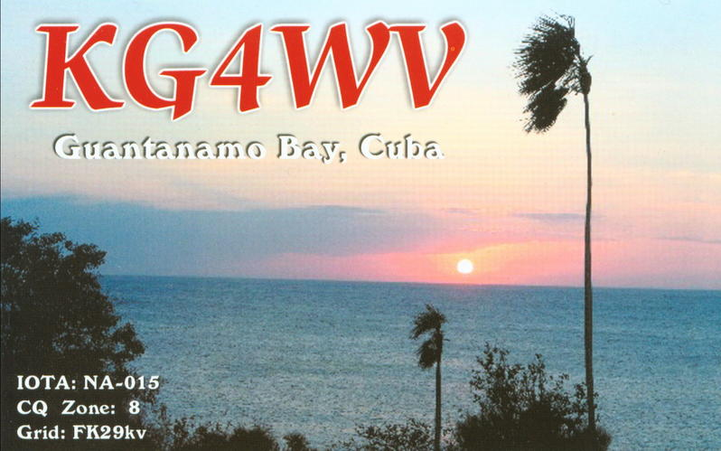 База Гуантамано KG4WV KG4HF