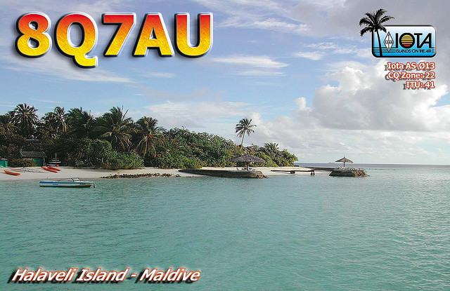 Halaveli Island Maldive Islands 8Q7AU QSL