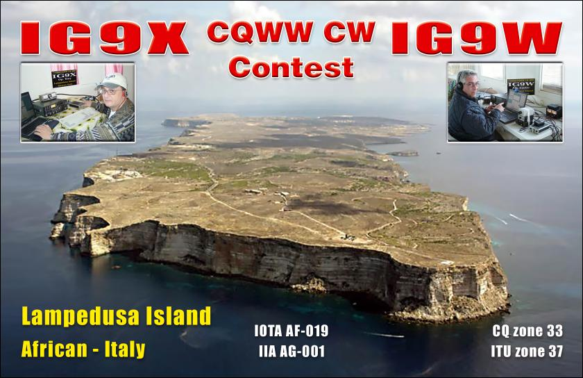 Остров Лампедуза IG9X IG9W CQ WW DX CW Contest 2009 DX Новости