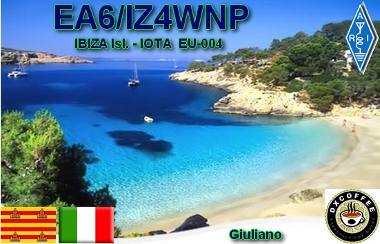 Ibiza Island Balearic Islands EA6/IZ4WNP QSL