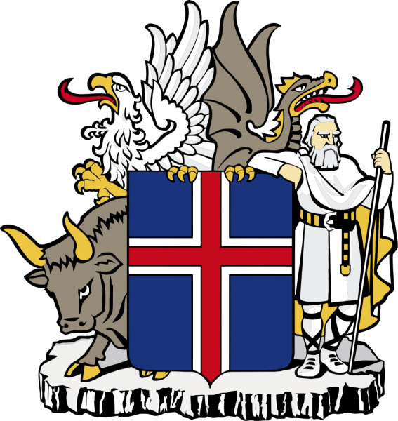Iceland Coat of Arms of Iceland TF/ON6KE