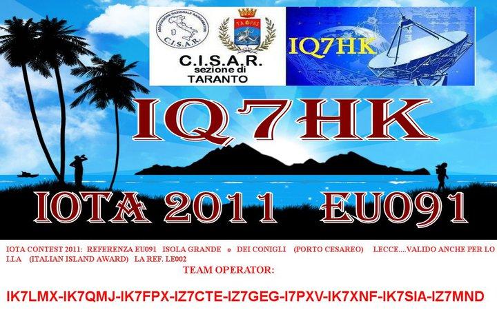 Остров Isola Grande IQ7HK