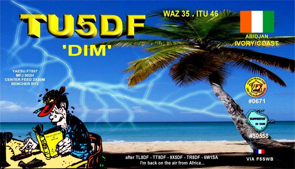 Ivory Coast TU5DF QSL