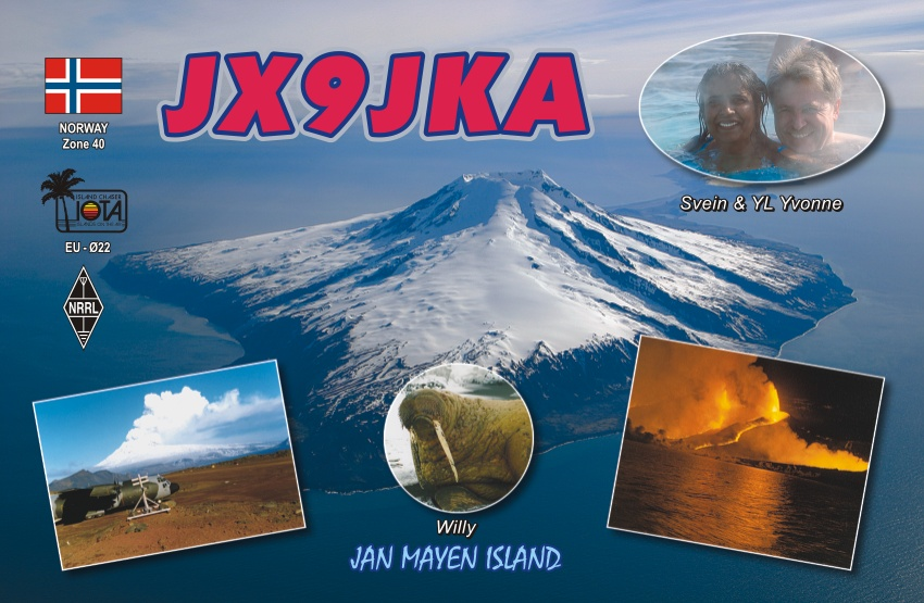 Jan Mayen Island JX9VKA QSL