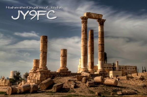 Иордания JY9FC QSL 1