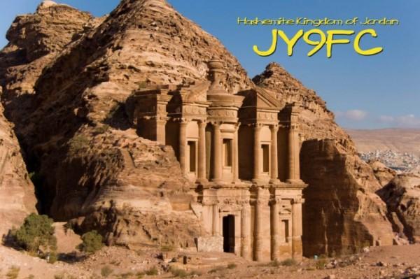 Иордания JY9FC QSL