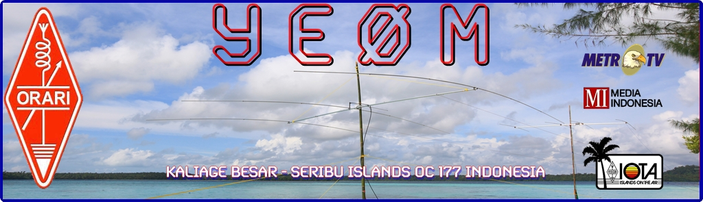 Kaliage Besard Island Seribu Islands YE0M DX News
