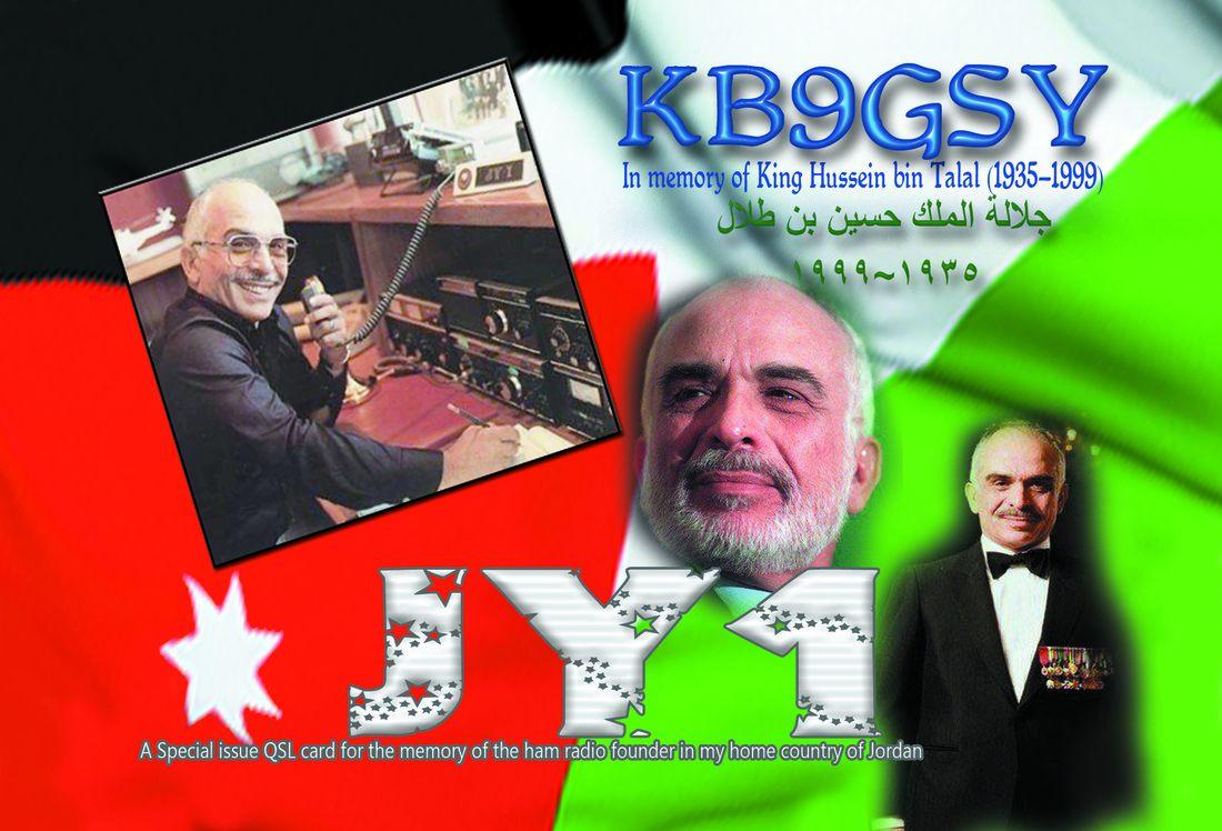 King Hussein JY1 Jordan KB9GSY USA