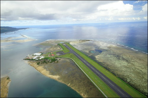 Kosrae Island Island of Sleeping Lady Shark Island Airport V63FAA