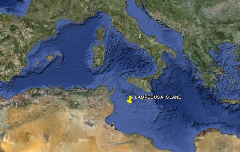 Остров Лампедуза IG9E Карта