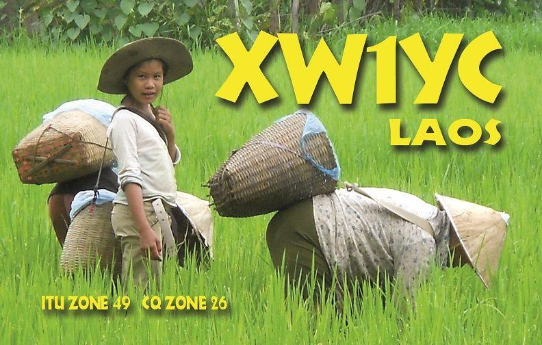 Laos XW1YC QSL