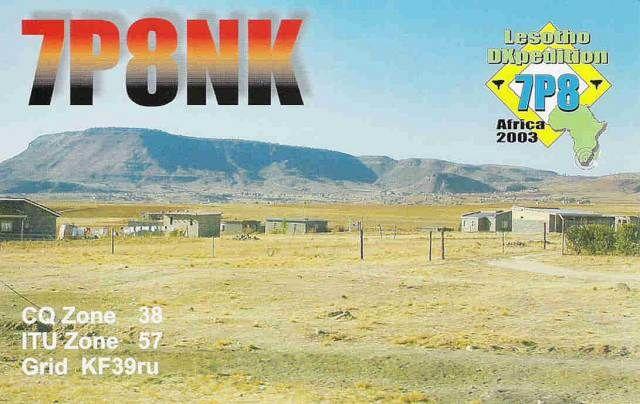 Lesotho 7P8NK DX News QSL