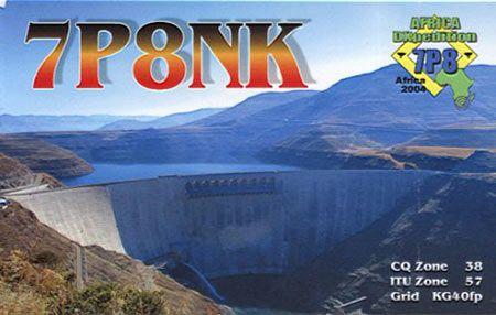 Lesotho 7P8NK QSL