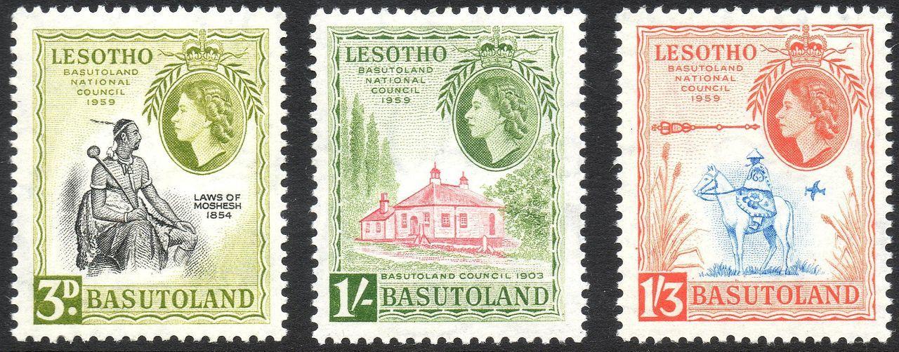 Lesotho Basutoland Stamps
