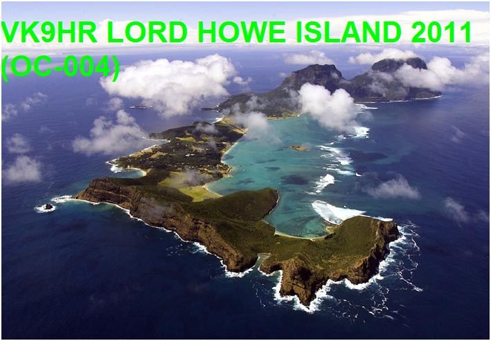 Lord Howe Island VK9HR DX News