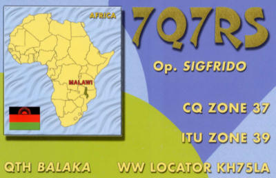 Республика Малави 7Q7RS