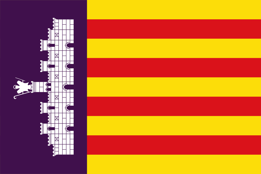 Mallorca Island Majorca Island Balearic Islands Flag of Balearic Islands