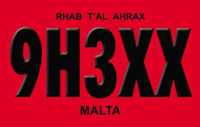 Malta 9H3XX QSL