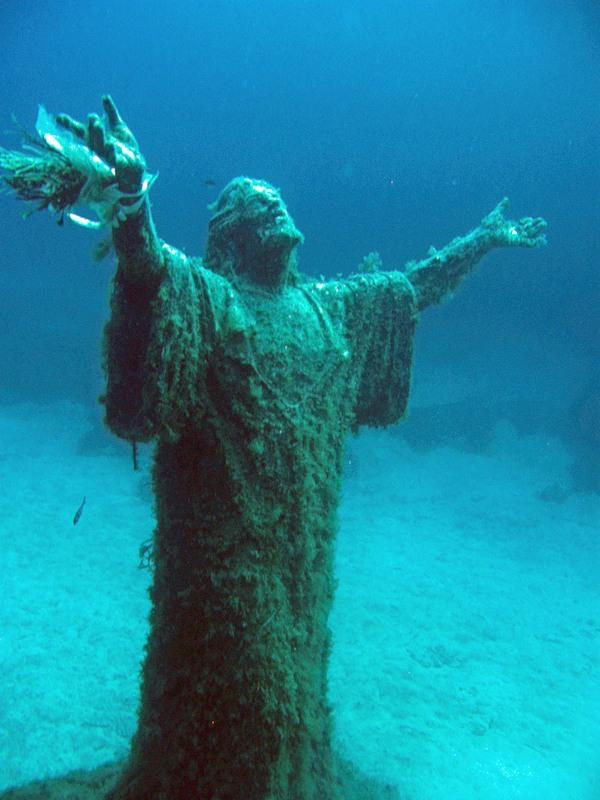 Иисус Христос Статуя под водой Мальта 9H9OB DX Новости