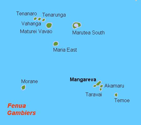 Остров Мангрева Острова Гамбье TX6T Карта