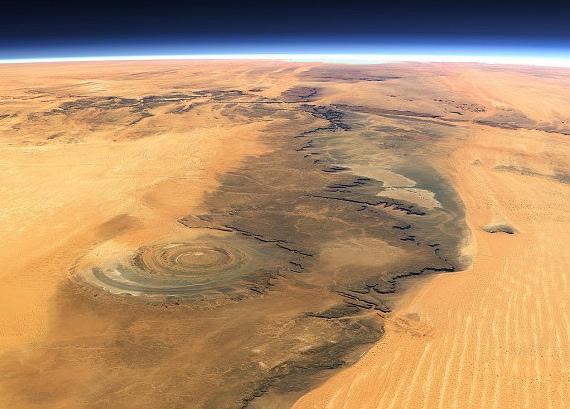 Мавритания 5T5BV Туристические достопримечательности Пустыня Сахара Глаз