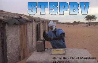 Mauritania 5T5PBV QSL