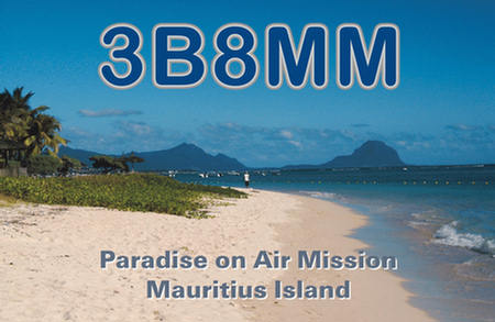 Остров Маврикий 3B8MM QSL