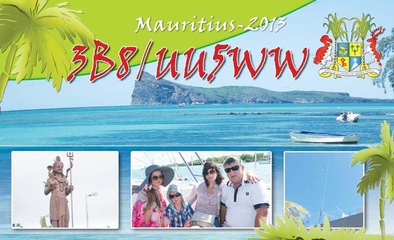 Mauritius Island 3B8/UU5WW QSL