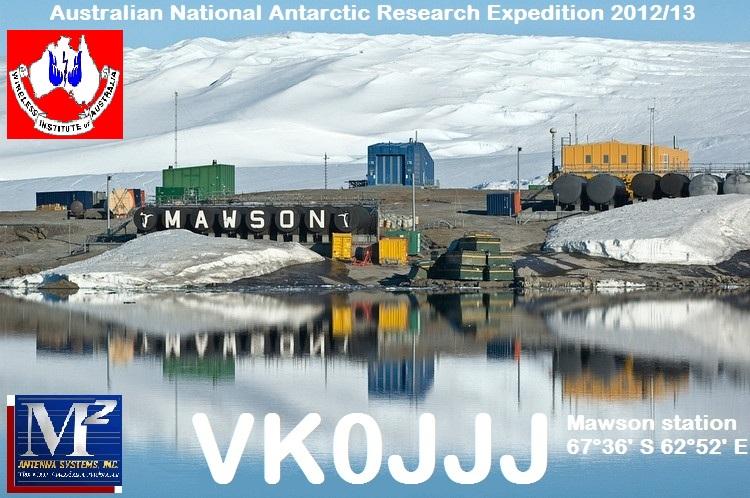 Станция Моусон Земля Мак Робертсона Антарктида VK0JJJ QSL