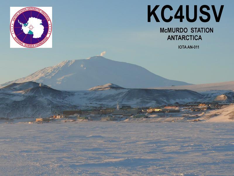 Мак-Мёрдо станция Антарктида KC4USV