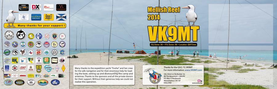 Mellish Reef VK9MT QSL Double Back 4