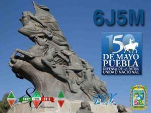 Mexico 6J5M Battle of Puebla