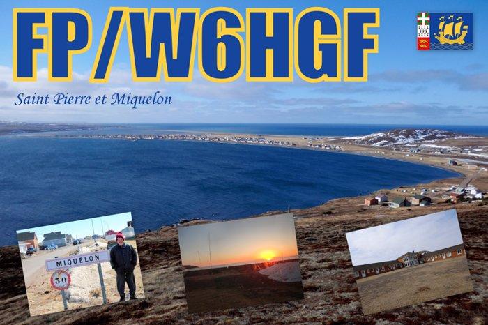 Остров Микелон FP/W6HGF QSL