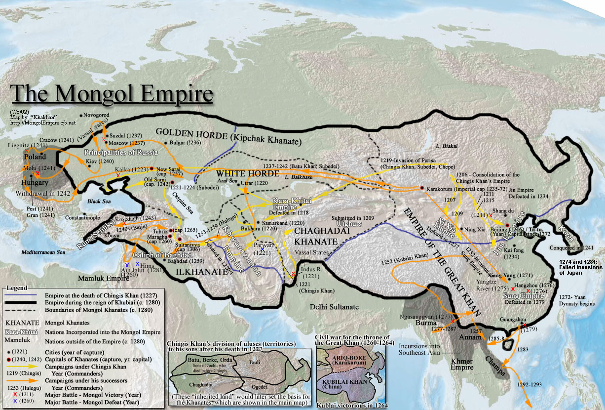 Mongolia JT0YAB JT0YPS The Mongol Empire