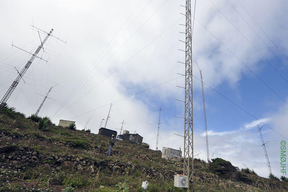 Монте Верде Остров Сао Висенте Центр антенны на 160м D4C