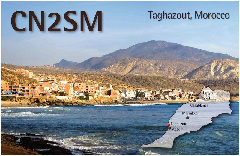 Morocco CN2SM QSL Tagzahout