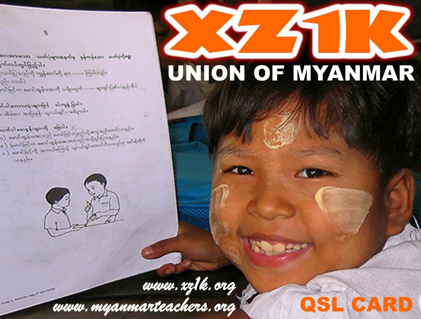 Myanmar XZ1K QSL