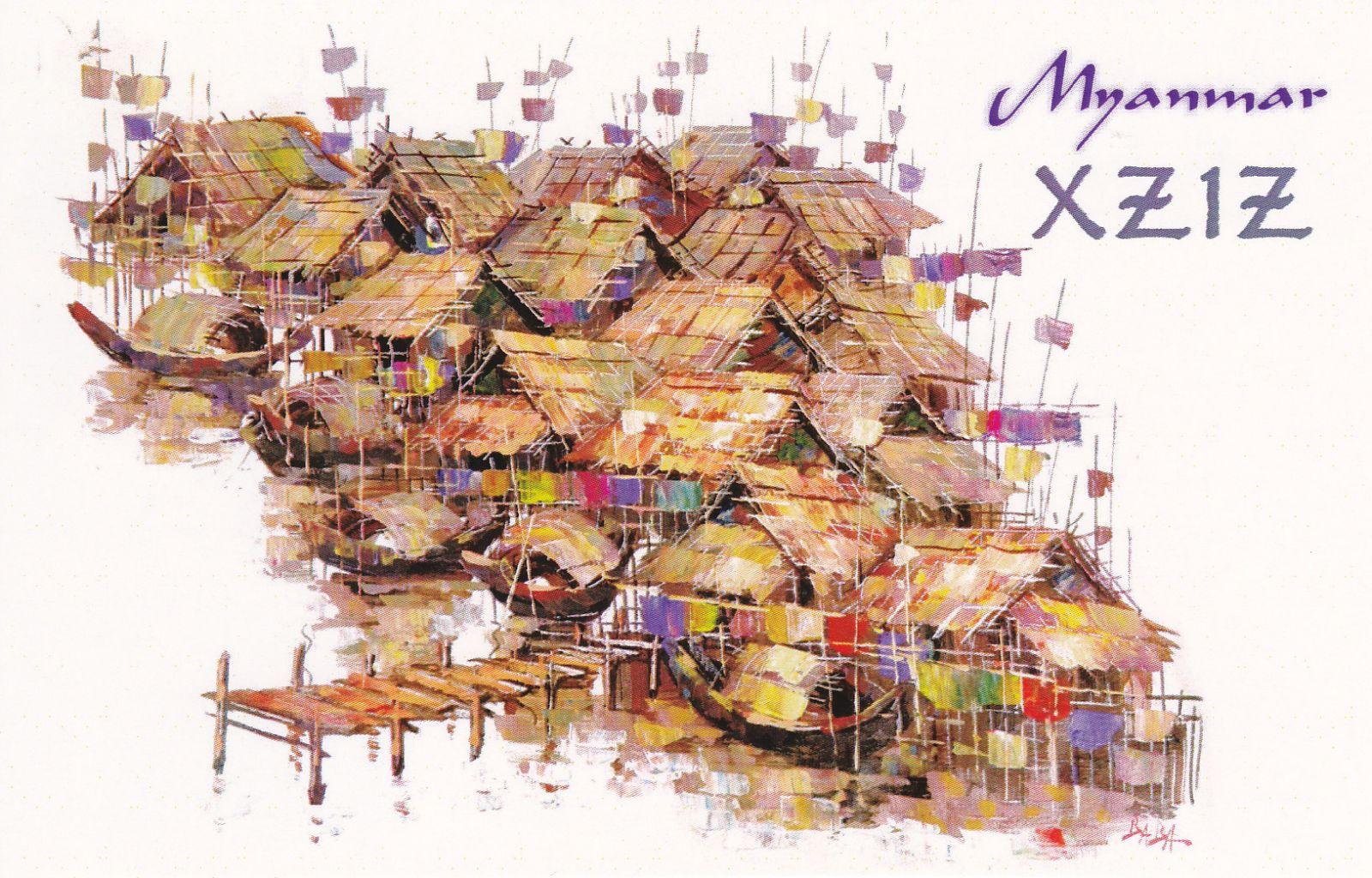 Myanmar XZ1Z QSL