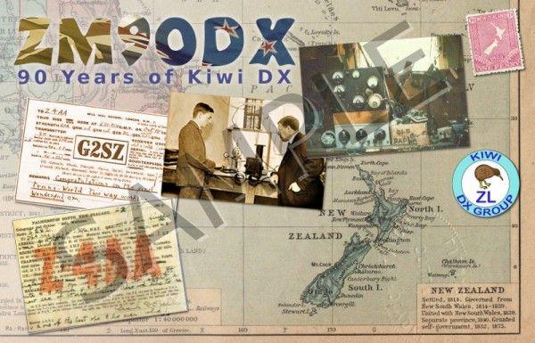 New Zealand ZM90DX QSL