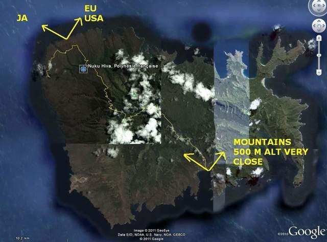 Остров Нуку Хива Маркизские Острова FO8RZ/P Карта