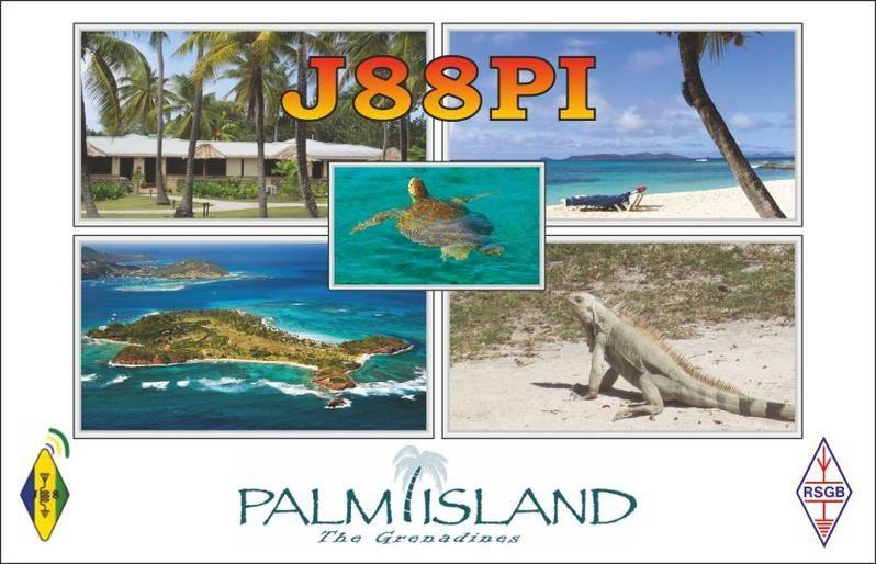 Остров Палм Айленд J88PI QSL