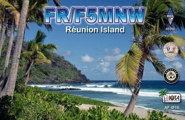 Остров Реюньон FR/F5MNW QSL