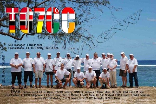 Остров Реюньон TO7CC QSL