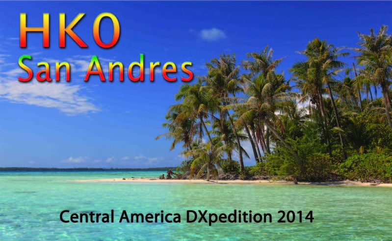 Остров Сан Андрес 5J0X QSL