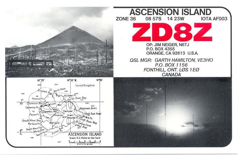 Остров Вознесения ZD8Z QSL 2